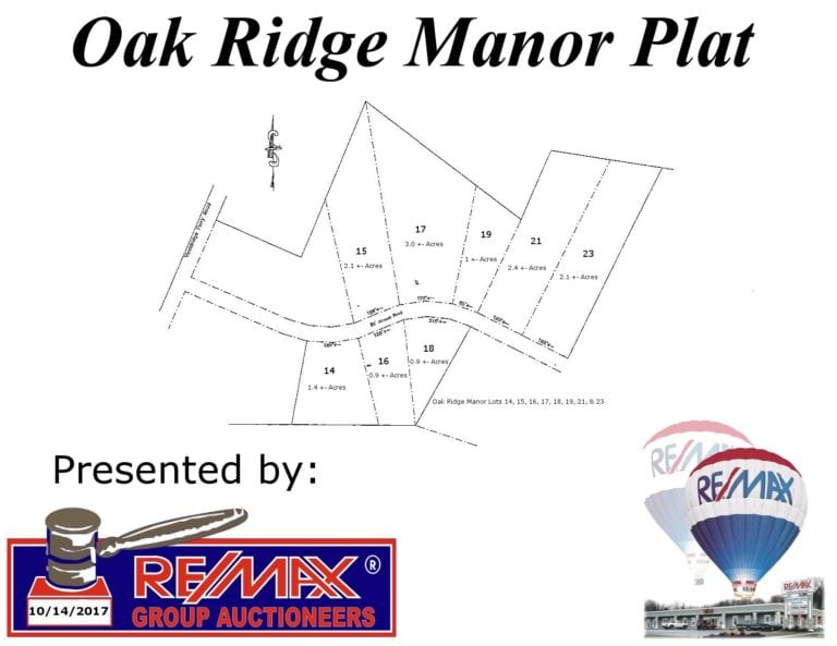 8 Oak Ridge Manor Lots | 2392 Woolridge Ferry Rd. | Saturday, October 14th | 10:00am