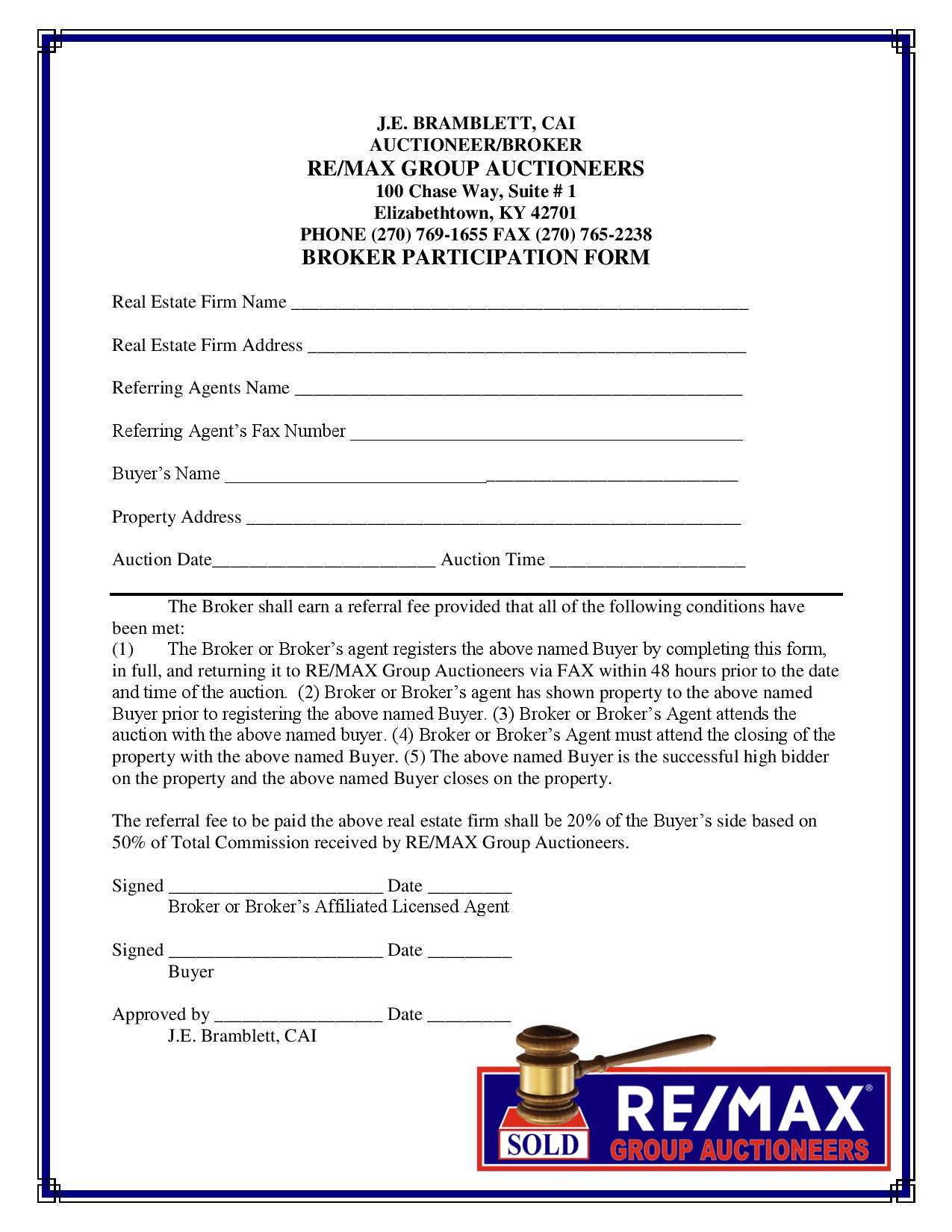 Broker Participation Form