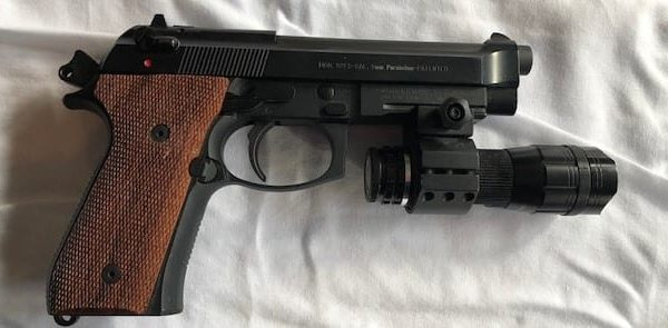 Berreta M9A1 9mm with light